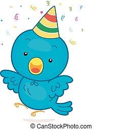 narozeniny, ptáček