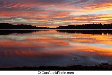 narrabeen, meren, weerspiegelingen