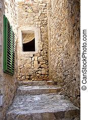 Narrow alley in Ulcinj - Montenegro