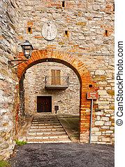 Medieval City - Narrow Alley of Italian Medieval City Todi