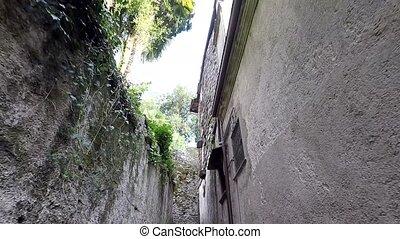Narrow ancient italian street on Isola San Giulio