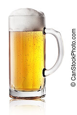 Narrow beer mug with handle
