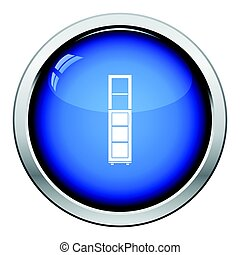 Narrow cabinet icon. Glossy button design. Vector...