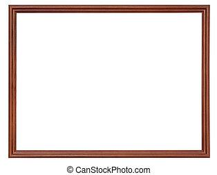 narrow dark brown wooden picture frame