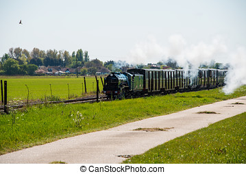 Narrow Gauge Steam Train - Narrow gauge steam train...