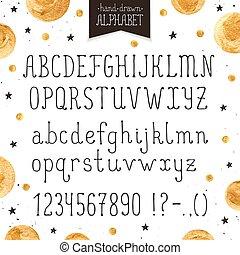 Narrow handdrawn font