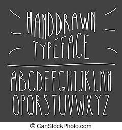 Narrow Handdrawn Mono Line Latin Font. Simple Slim Style Serif Alphabet. Vector.