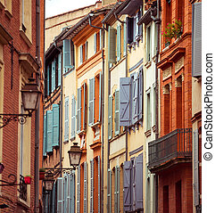 street with old buildings in Toulouse