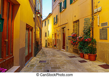 Narrow old street in Italy