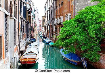 narrow old street of Venice, Italy.