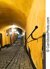 Narrow passage in stockholm