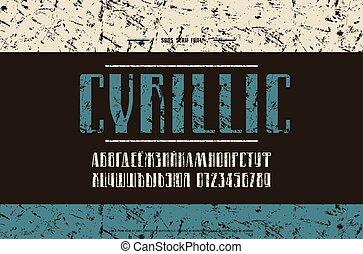 narrow, sans, cyrillic, serif, ベクトル, 壷, 株