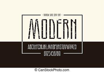 narrow, sans, serif, ベクトル, 壷, 株