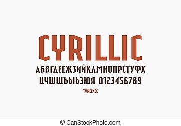 Narrow sans serif font in sport style