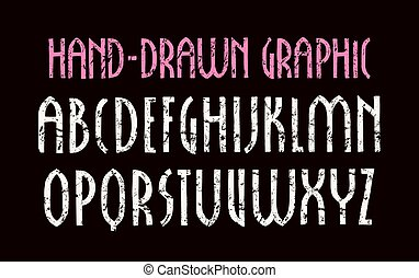 Narrow sanserif font in new gothic style