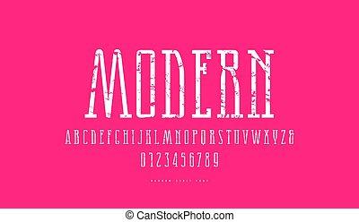 narrow, serif, ベクトル, 壷, 厚板, 株