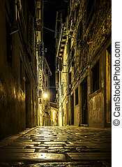 Narrow street in an old town