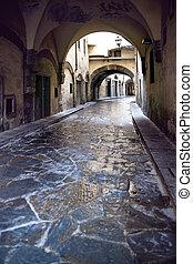 narrow street in Florence - Narrow street in vintage style...