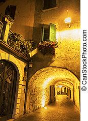 Limone sul Garda in Italy - Narrow street in Limone sul...