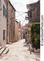 Narrow street in Makarska