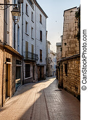 Narrow street in old city centre