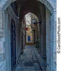 Narrow street in old Jaffa , Israel