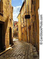 Narrow street in Perigueux - Narrow medieval street in town ...