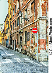 Narrow street in Rome