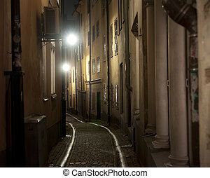 Narrow street in Stockholm - Narrow street in the old town...