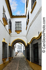 Narrow street in the ancient Ronda