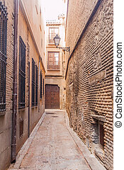 Narrow street in the center of Toledo, Spa