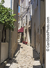 Narrow street in the city center