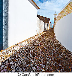 Narrow Street in the Medieval Portuguese City of Albufeira