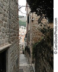 Narrow street in the Old Town