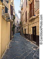Narrow street in the old town of Bari