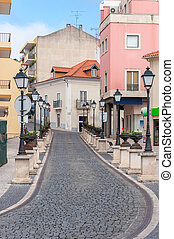 Narrow street in town of Alcobaca