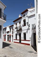 Narrow street in town Ronda, Andalusia Spain