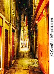 Narrow street in Venice, Italy