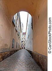 Narrow street in Vienna