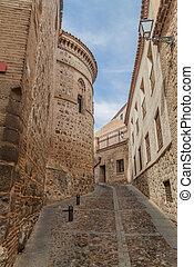 Narrow street next to the Toledo cathedral, Spa