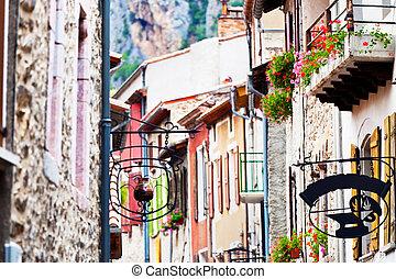 narrow street of the old city