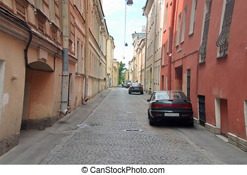 Narrow street of the old town.