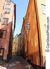 Narrow Street Stockholm