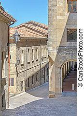 Narrow Streets in San Marino Town Microstate
