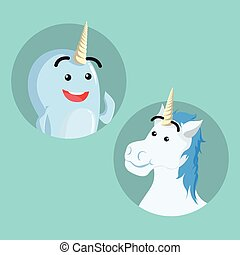 narwhal and unicorn