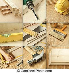 narzędzia, collage
