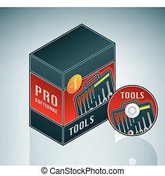 narzędzia, plik, software
