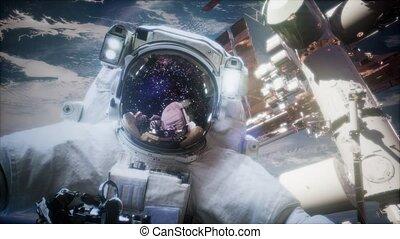 nasa, ceci, astronaute, image, éléments, meublé, spacewalk.