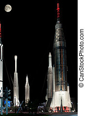 nasa, kennedy, fusées, centre, espace