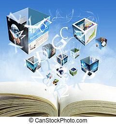 """nasa"""", negócio, fornecido, este, abertos, imagem, streaming, livro, em branco, images""""elements"""
